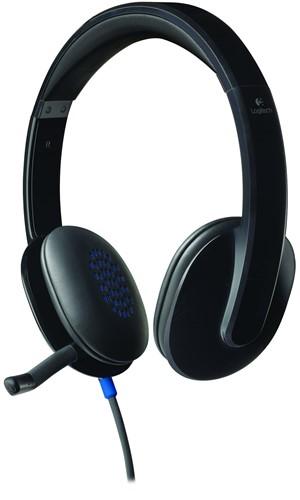 Logitech H540 Stereofonisch Hoofdband Zwart hoofdtelefoon