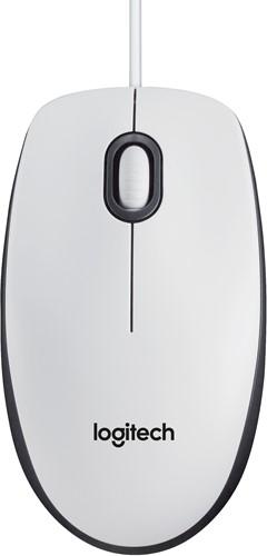Logitech B100 USB Optisch 800DPI Ambidextrous Wit muis