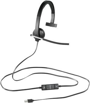 Logitech H650e Monauraal Hoofdband Zwart, Grijs hoofdtelefoon-2