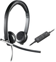 Logitech H650e Stereofonisch Hoofdband Zwart, Zilver hoofdtelefoon