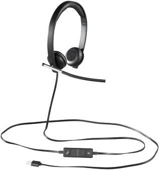 Logitech H650e Stereofonisch Hoofdband Zwart, Zilver hoofdtelefoon-2
