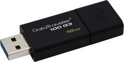 Kingston Technology DataTraveler 100 Generation 3 16GB 16GB USB 3.0 Zwart USB flash drive