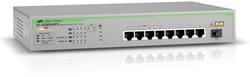 Allied Telesis AT-GS900/8PS Gigabit Ethernet (10/100/1000) Power over Ethernet (PoE) Grijs
