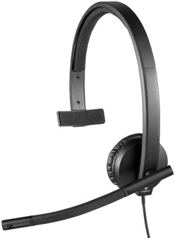 Logitech H570e Monauraal Hoofdband Zwart hoofdtelefoon-3