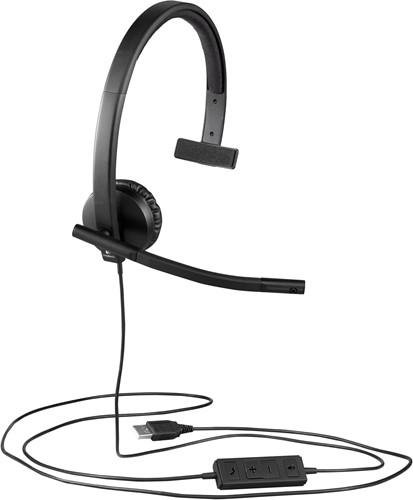 Logitech H570e Monauraal Hoofdband Zwart hoofdtelefoon
