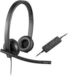 Logitech H570e Stereofonisch Hoofdband Zwart hoofdtelefoon