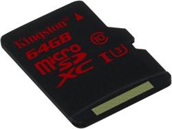 Kingston Technology microSDHC/SDXC UHS-I U3 64GB 64GB MicroSDXC UHS Class 3 flashgeheugen