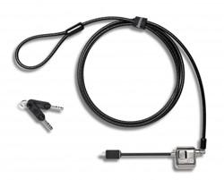Lenovo 4X90H35558 Flat key Zwart, Roestvrijstaal kabelslot