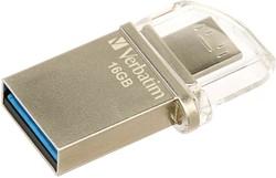 Verbatim Store 'n' Go OTG Micro 16GB USB 3.0 (3.1 Gen 1) Type-A Zilver USB flash drive