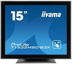 "iiyama ProLite T1532MSC-B3X 15"" 1024 x 768Pixels Tafelblad Zwart touch screen-monitor"