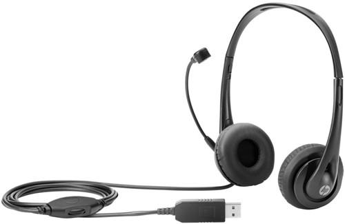 HP Stereo USB Headset Stereofonisch Hoofdband Zwart hoofdtelefoon