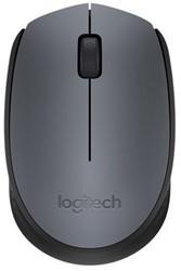Logitech M170 RF Draadloos Optisch 1000DPI Ambidextrous Zwart, Grijs muis