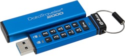 Kingston Technology DataTraveler 2000 64GB 64GB USB 3.0 (3.1 Gen 1) Type-A Blauw USB flash drive