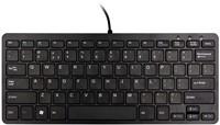 R-Go Tools Compact Toetsenbord, QWERTY(US), zwart, Bedraad