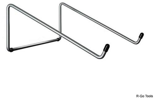 R-Go Tools Steel Basic Laptopstandaard, zilver