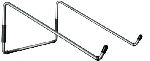 R-Go Tools Steel Travel Laptopstandaard, zilver