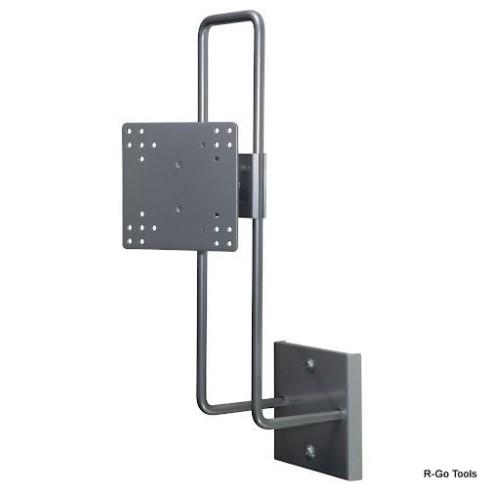R-Go Tools Steel Up & Down Muurbeugel, verstelbaar, zilver
