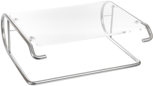 R-Go Tools Steel Essential Monitorstandaard, zilver