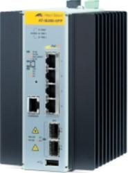 Allied Telesis AT-IE200-6FP-80 Managed L2 Fast Ethernet (10/100) Power over Ethernet (PoE) Zwart, Grijs