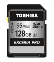 Toshiba EXCERIA PRO - N401 128GB SDXC UHS-I Klasse 3 flashgeheugen