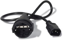 APC AP9880 0.6m C14 stekker CEE7/7 Schuko Zwart electriciteitssnoer