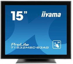 "iiyama ProLite T1532MSC-B3AG 15"" LED Niet ondersteund Zwart"