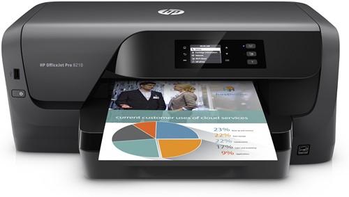 HP Officejet Pro 8210 Kleur 2400 x 1200DPI A4 Wi-Fi Zwart