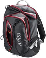 Fujitsu S26391-F1194-L136 Polyester Zwart, Rood rugzak