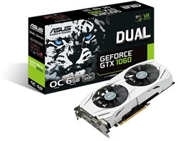ASUS DUAL-GTX1060-O6G GeForce GTX 1060 6GB GDDR5 videokaart