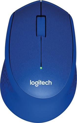Logitech M330 Silent Plus RF Draadloos Optisch 1000DPI Rechtshandig Blauw muis