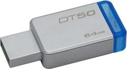 Kingston Technology DataTraveler 50 64GB 64GB USB 3.0 (3.1 Gen 1) Type-A Blauw, Zilver USB flash drive