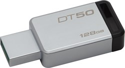 Kingston Technology DataTraveler 50 128GB 128GB USB 3.0 (3.1 Gen 1) Type-A Zwart, Zilver USB flash drive