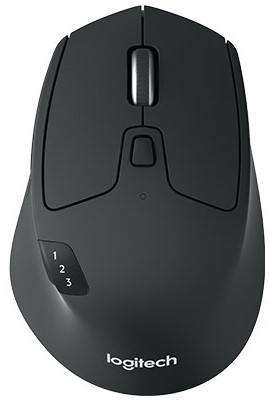 Logitech M720 Triathlon Bluetooth Optisch 1000DPI Rechtshandig Zwart, Wit muis
