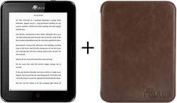 Icarus Bundel van de Illumina E654BK e-reader met bruine beschermhoes C020EN