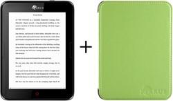 Icarus Bundel van de Illumina E654BK e-reader met groene beschermhoes C020GN