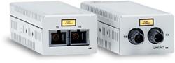 Allied Telesis AT-DMC100/LC-00 100Mbit/s 1310nm Multimode Grijs netwerk media converter