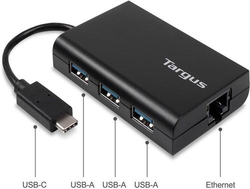 Targus ACH230EUZ USB 2.0 Zwart hub & concentrator-2