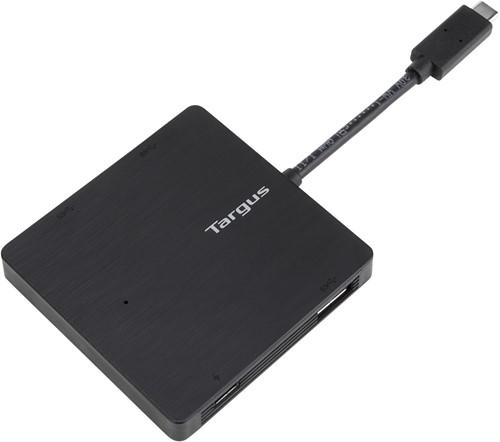 Targus ACH924EU USB 3.0 (3.1 Gen 1) Type-A 5000Mbit/s Zwart hub & concentrator