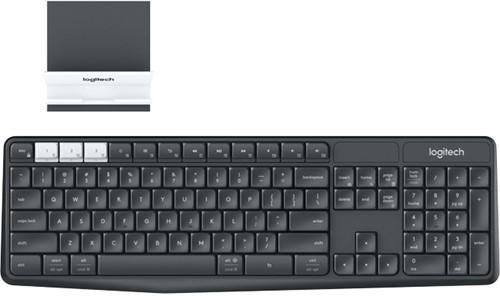 Logitech K375s RF Wireless + Bluetooth QWERTY Engels Grafiet, Wit toetsenbord