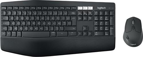 Logitech MK850 RF Wireless + Bluetooth AZERTY Belgisch Zwart toetsenbord