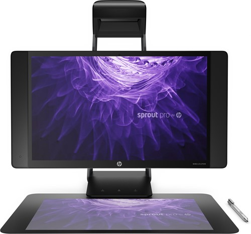 "HP Sprout Pro G2 2.9GHz i7-7700T 23.8"" 1920 x 1080Pixels 3D Touchscreen Zwart All-in-One workstation-1"