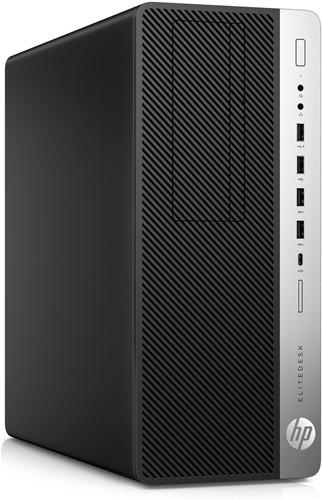 HP EliteDesk 800 G3 Tower 3.4GHz i5-7500 Toren Zwart, Zilver PC-3