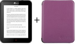 "Icarus Illumina E654 bundel lila hoes 6"" Touchscreen 8GB Wi-Fi Zwart e-book reader"