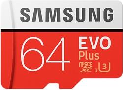 Samsung EVO Plus MB-MC64G 64GB MicroSDXC UHS-I Klasse 10 flashgeheugen