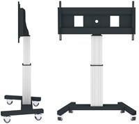 "Newstar PLASMA-M2500SILVERMS 100"" Portable flat panel floor stand Zwart, Wit flat panel vloer standaard-3"