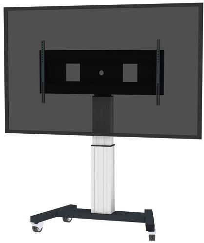"Newstar PLASMA-M2500SILVERMS 100"" Portable flat panel floor stand Zwart, Wit flat panel vloer standaard-2"