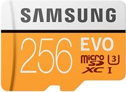 Samsung 256GB, MicroSDXC EVO 256GB MicroSDXC UHS-I Klasse 10 flashgeheugen