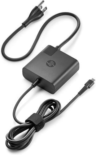HP 1HE08AA Binnen 65W Zwart netvoeding & inverter