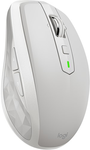 Logitech MX Anywhere 2S RF draadloos + Bluetooth 4000DPI Rechtshandig Grijs, Wit muis