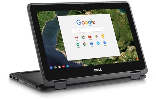 """DELL Chromebook 3189 1.6GHz N3060 11.6"""" 1366 x 768Pixels Touchscreen Zwart Chromebook"""